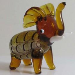 Elefant mit Silberfolie