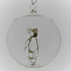 Glaskugel mit Glas Teddybär...