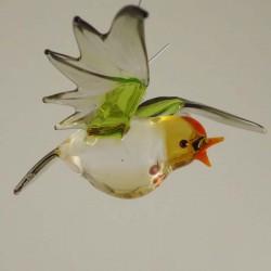 Glas Birkenzeisig fliegend...
