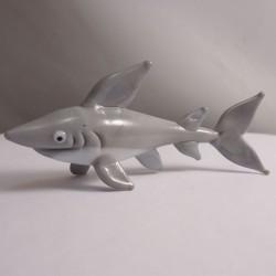 Glas Hai grau-weiss