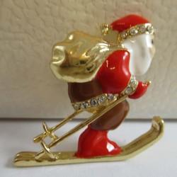 Brosche Weihnachtsmann auf...