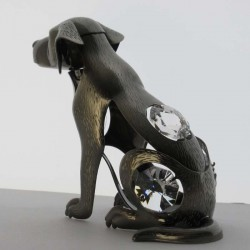 Hund mit Swarovski Elements