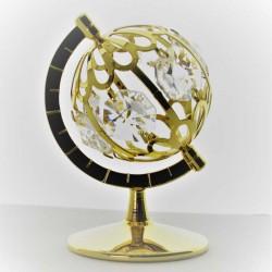 Globus auf Sockel Swarovski...