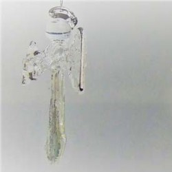 Glas Engel 50mm klar-silber...