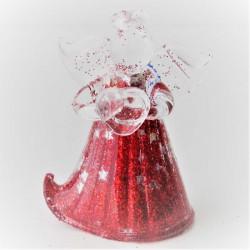Glasengel rot schilernd mit...