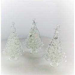 Glas Weihnachtsbaum 80mm...