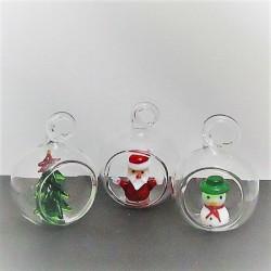 Glas Weihnachtskugel ca....