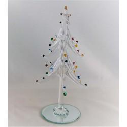 Glas Weihnachtsbaum klar...
