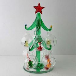 Glas Christbaum mit 8...