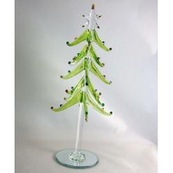 Glas Weihnachtsbaum gruen...