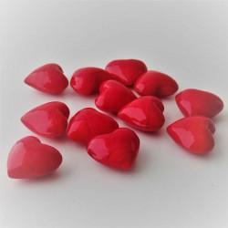 Glas-Herzen 25mm rot,...