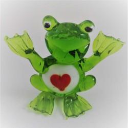 Glas Frosch mit Herz zum...