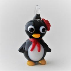 Glas Pingu zum haengen und...